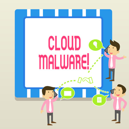 Word writing text Cloud Malware. Business photo showcasing malicious software file or program harmful to a computer Imagens