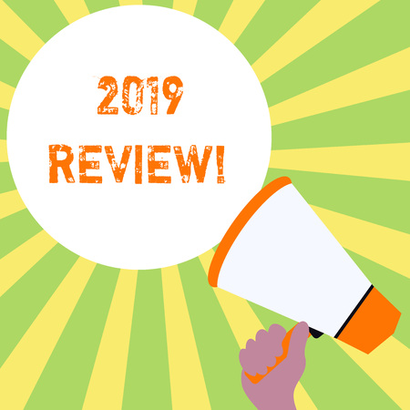 Text sign showing 2019 Review. Business photo text remembering past year events main actions or good shows