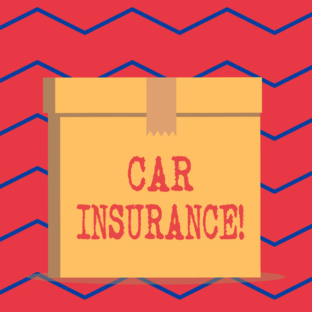 Text sign showing Car Insurance. Business photo text protection against financial loss in the event of an accident