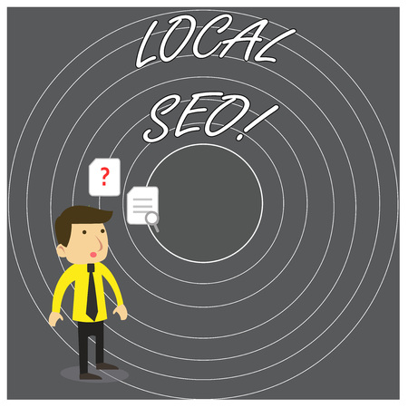Writing note showing Local Seo. Business concept for incredibly effective way to market your near business online