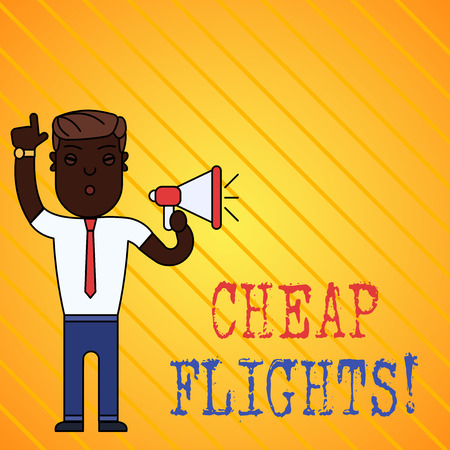 Conceptual hand writing showing Cheap Flights. Concept meaning costing little money or less than is usual or expected airfare