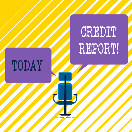Writing note showing Credit Report. Business concept for it is the detailed report of an individual s is credit history