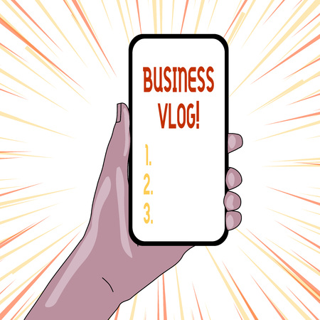 Text sign showing Business Vlog. Business photo showcasing A video content about subject matter related to the company