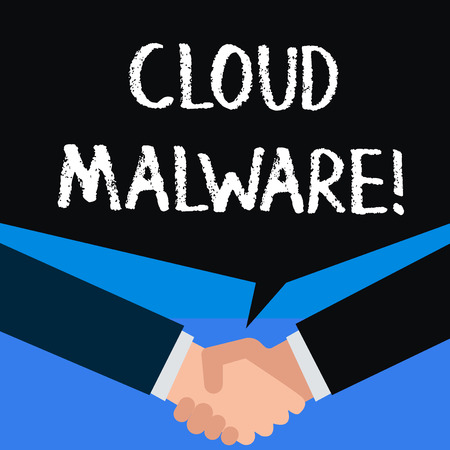 Writing note showing Cloud Malware. Business concept for malicious software file or program harmful to a computer 版權商用圖片