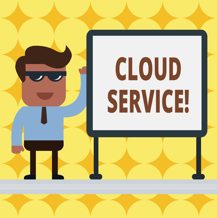 Writing note showing Cloud Service. Business concept for refers to variety of resources provided over the internet