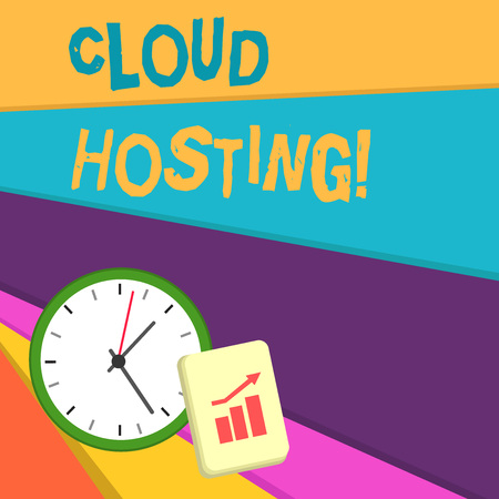 Handwriting text writing Cloud Hosting. Conceptual photo the alternative to hosting websites on single servers