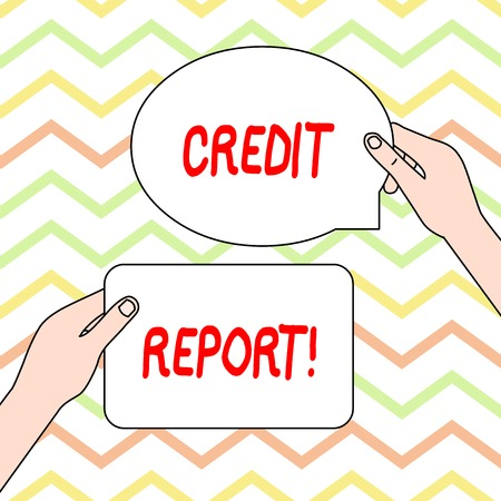 Conceptual hand writing showing Credit Report. Concept meaning it is the detailed report of an individual s is credit history
