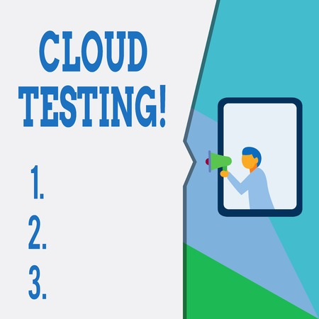 Text sign showing Cloud Testing. Business photo text is the assessment of a Web application s is perforanalysisce
