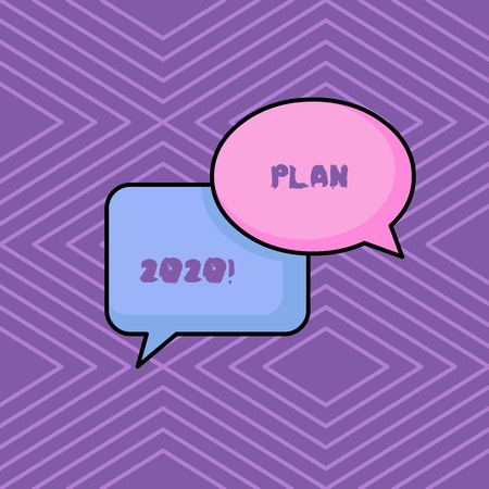 Word writing text Plan 2020. Business photo showcasing detailed proposal doing achieving something next year
