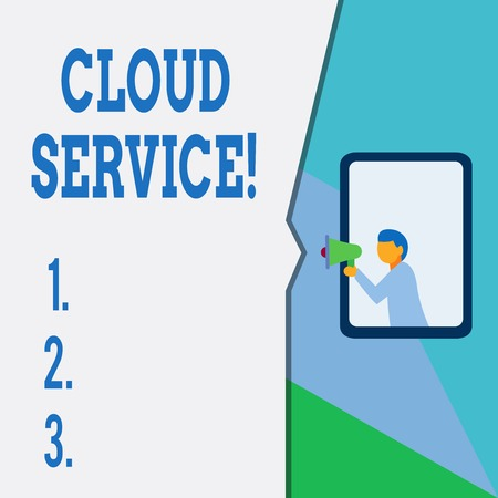 Text sign showing Cloud Service. Business photo text refers to variety of resources provided over the internet