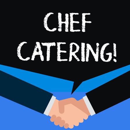 Writing note showing Chef Catering. Business concept for Provides services, food and beverages for various events
