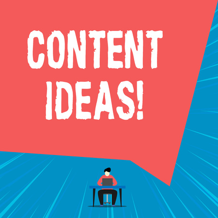 Text sign showing Content Ideas. Business photo showcasing the formulated thought or opinion for content campaign