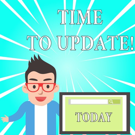 Text sign showing Time To Update. Business photo text this is right moment to make something more modern new