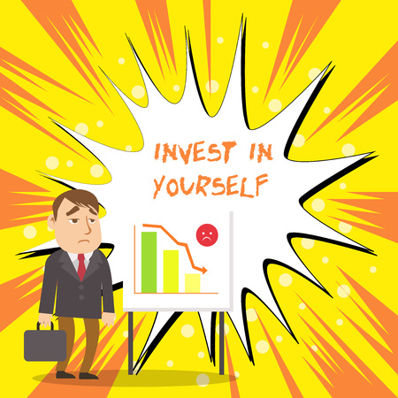 Text sign showing Invest In Yourself. Business photo showcasing learn new things or materials thus making your lot better