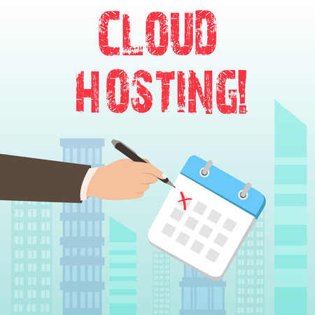 Word writing text Cloud Hosting. Business photo showcasing the alternative to hosting websites on single servers