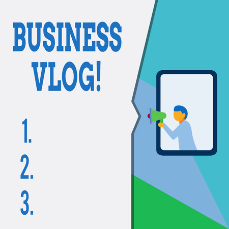 Text sign showing Business Vlog. Business photo text A video content about subject matter related to the company