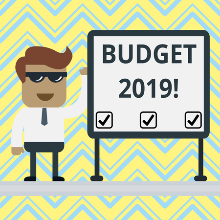 Handwriting text Budget 2019. Conceptual photo estimate of income and expenditure for current year Stock fotó