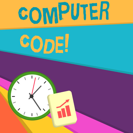 Handwriting text writing Computer Code. Conceptual photo Set of instructions forming a computer program to execute