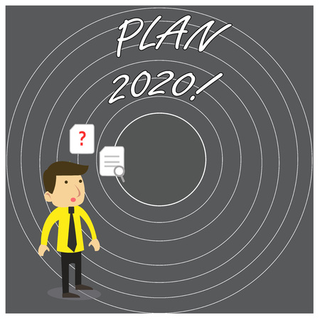 Writing note showing Plan 2020. Business concept for detailed proposal doing achieving something next year Reklamní fotografie