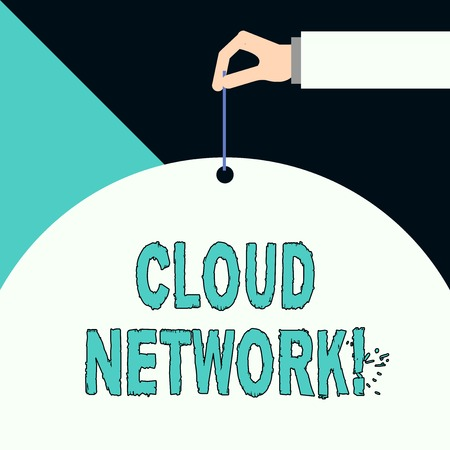Writing note showing Cloud Network. Business concept for Access of networking resources from centralized provider 版權商用圖片