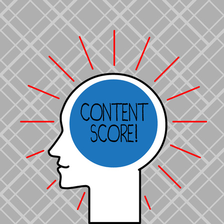 Word writing text Content Score. Business photo showcasing aggregated predictor for the competitiveness of online content