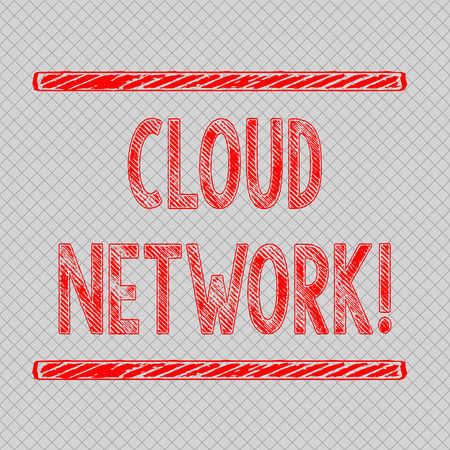 Writing note showing Cloud Network. Business concept for Access of networking resources from centralized provider Diagonal Gray Grid Mesh Cell in Parallel Line Intertwined Pattern
