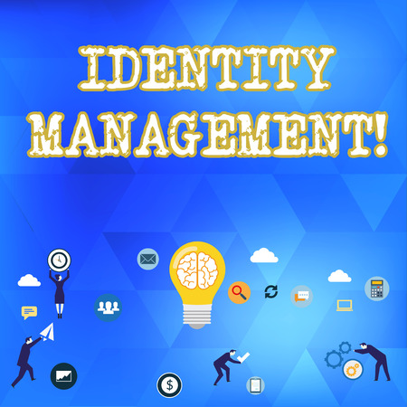 Handwriting text Identity Management. Conceptual photo administration of individual identities within a system Business Digital Marketing Symbol, Element, Campaign and Concept Flat Icons