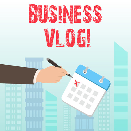 Word writing text Business Vlog. Business photo showcasing A video content about subject matter related to the company