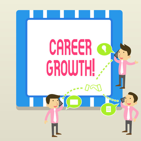 Word writing text Career Growth. Business photo showcasing the process of making progress to better jobs or career