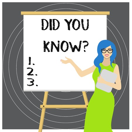Writing note showing Did You Know Question. Business concept for when you are asking someone if they know fact or event
