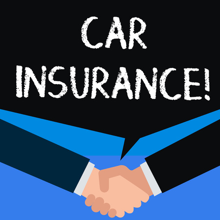 Writing note showing Car Insurance. Business concept for protection against financial loss in the event of an accident