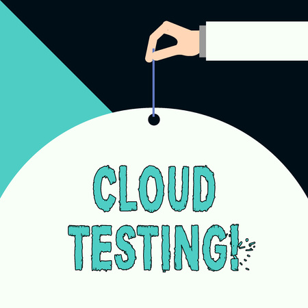 Writing note showing Cloud Testing. Business concept for is the assessment of a Web application s is perforanalysisce