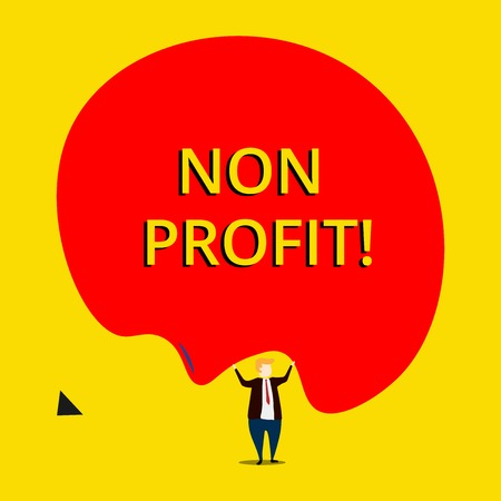 Conceptual hand writing showing Non Profit. Concept meaning not making or conducted primarily to make profit organization Фото со стока