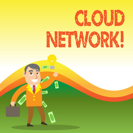 Text sign showing Cloud Network. Business photo showcasing Access of networking resources from centralized provider
