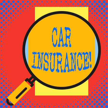 Conceptual hand writing showing Car Insurance. Concept meaning protection against financial loss in the event of an accident