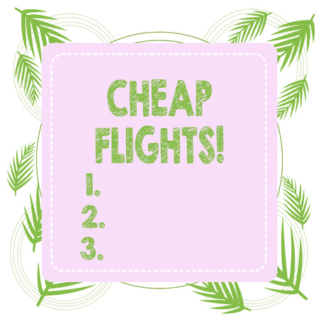 Text sign showing Cheap Flights. Business photo text costing little money or less than is usual or expected airfare