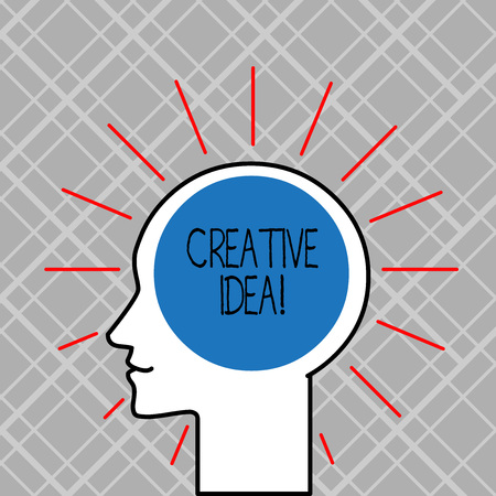 Word writing text Creative Idea. Business photo showcasing the overarching concept that captures audience interest