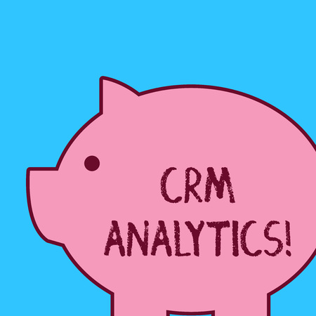 Handwriting text Crm Analytics. Conceptual photo applications used to evaluate an organization s is customer data