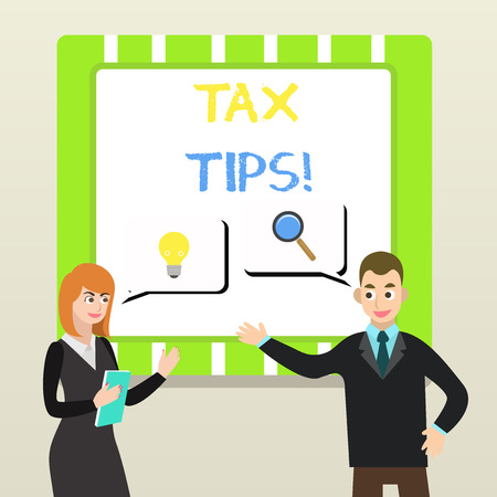Handwriting text Tax Tips. Conceptual photo compulsory contribution to state revenue levied by government 版權商用圖片