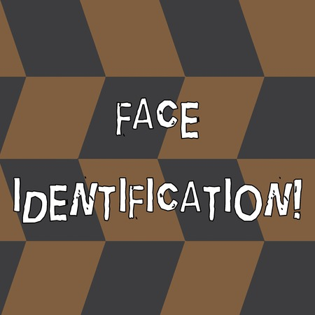 Word writing text Face Identification. Business photo showcasing analyzing patterns based on the demonstrating s is facial contours Seamless Slanting Squares in Brown and Gray Alternate Color Creating Depth