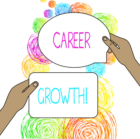 Conceptual hand writing showing Career Growth. Concept meaning the process of making progress to better jobs or career 版權商用圖片