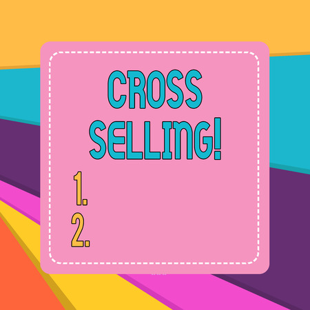 Word writing text Cross Selling. Business photo showcasing to sell complementary products to an existing customer