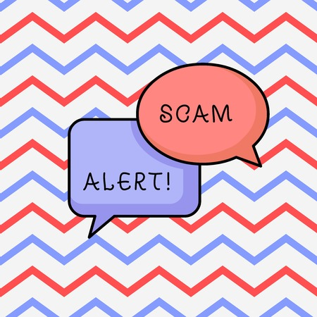 Writing note showing Scam Alert. Business concept for fraudulently obtain money from victim by persuading him Stock Photo