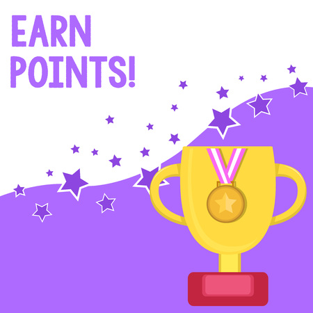 Text sign showing Earn Points. Business photo text collecting scores in order qualify to win big prize Reklamní fotografie