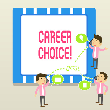 Word writing text Career Choice. Business photo showcasing selection of a particular path or vocation in terms of career 版權商用圖片