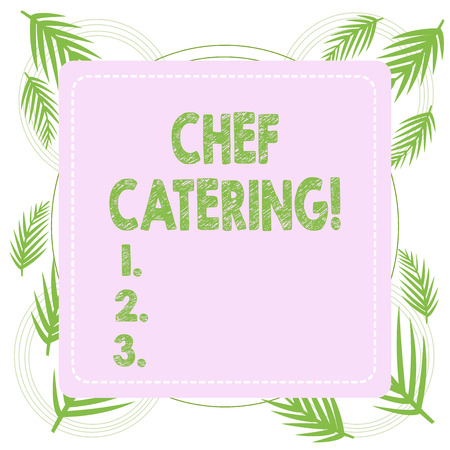 Text sign showing Chef Catering. Business photo text Provides services, food and beverages for various events Stock Photo