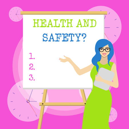 Conceptual hand writing showing Health And Safety Question. Concept meaning regulations and procedures to prevent accident or injury