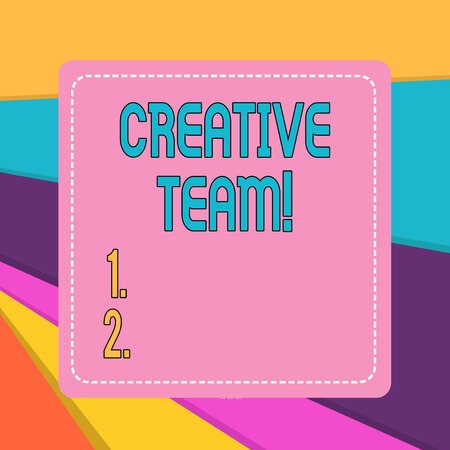 Word writing text Creative Team. Business photo showcasing Group of showing that comes up with the advertising ideas