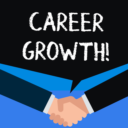 Writing note showing Career Growth. Business concept for the process of making progress to better jobs or career