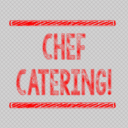 Writing note showing Chef Catering. Business concept for Provides services, food and beverages for various events Diagonal Gray Grid Mesh Cell in Parallel Line Intertwined Pattern Reklamní fotografie